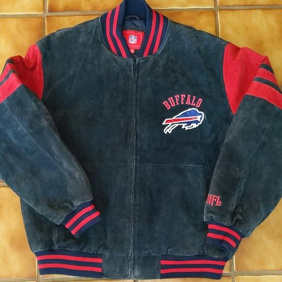 62c10580 NFL Buffalo Bills Suede Jacket Large